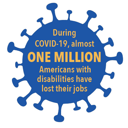 During COVID-19, almost One Million Americans with disabilities have lost their jobs
