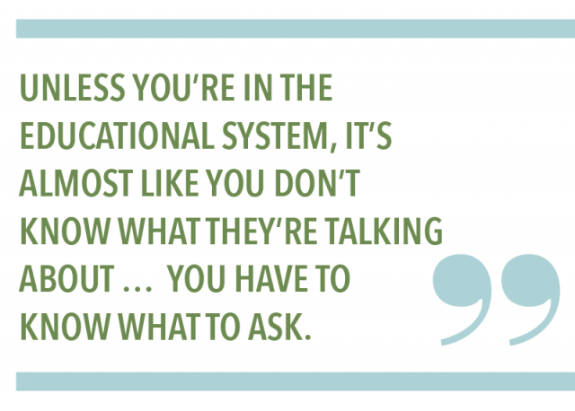 Unless you're in the educational system, it's almost like you don't know what they're talking about... You have to know what to ask.
