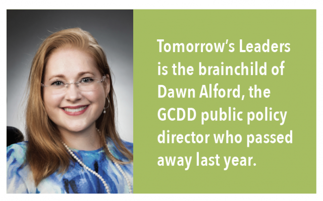 Tomorrow's Leaders is the brainchild of Dawn Alford, the GCDD public policy director who passed away last year.