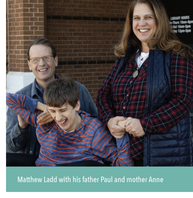 Matthew Ladd with his father Paul and mother Anne.