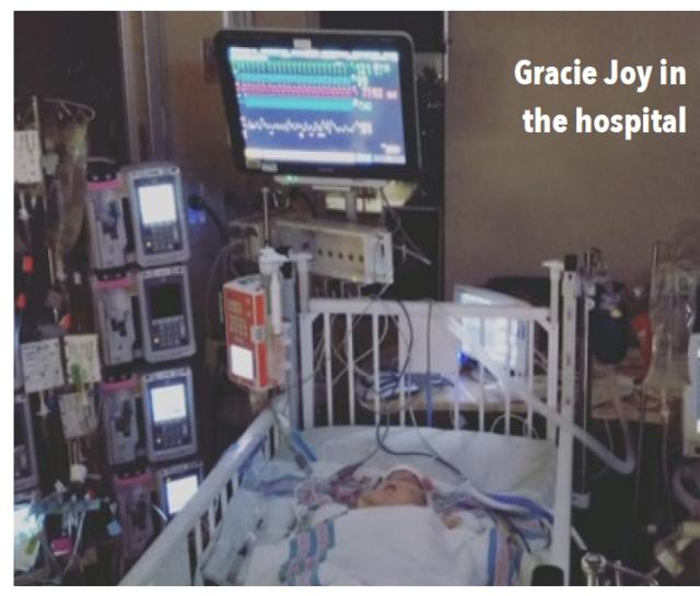 Photo of Gracie Joy in the hospital