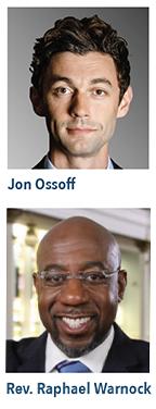 Jon Ossoff & Rev. Raphael Warnock.